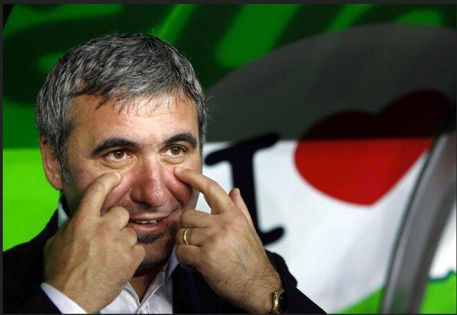 Gheorghe Hagi, surnommé le Maradona des Carpates, du temps de sa splendeur © Reuters