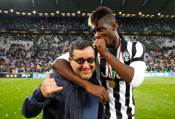 Paul Pogba et son agent Mino Raiola. © LaPresse