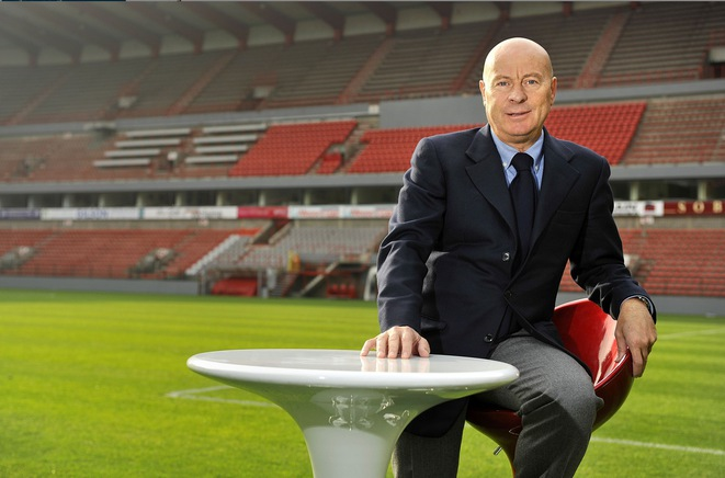 Luciano D'Onofrio when he was vice-president of Belgian club Standard de Liège. © Le Soir