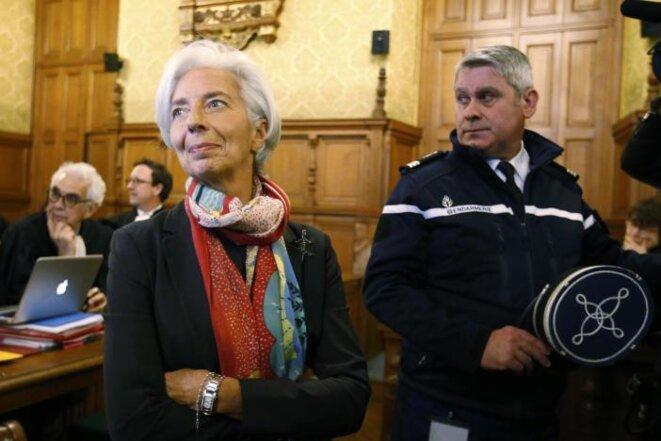 Christine Lagarde à l'ouverture de son procès © Reuters