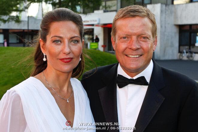 L'ancien joueur et désormais agent Soren Lerby, avec sa femme et associée en affaires, Arlette. © DR