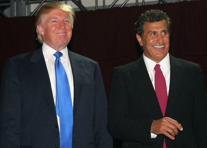 Donald Trump et Tefvik Arif lors du lancement de Soho Trump en 2007