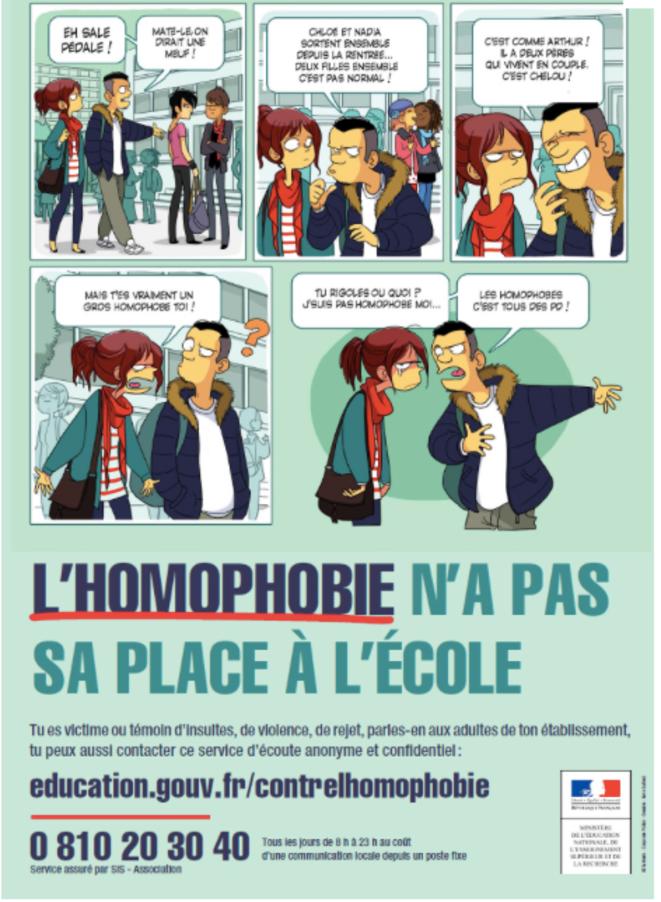 Campagne ministérielle contre l'homophobie à l'école