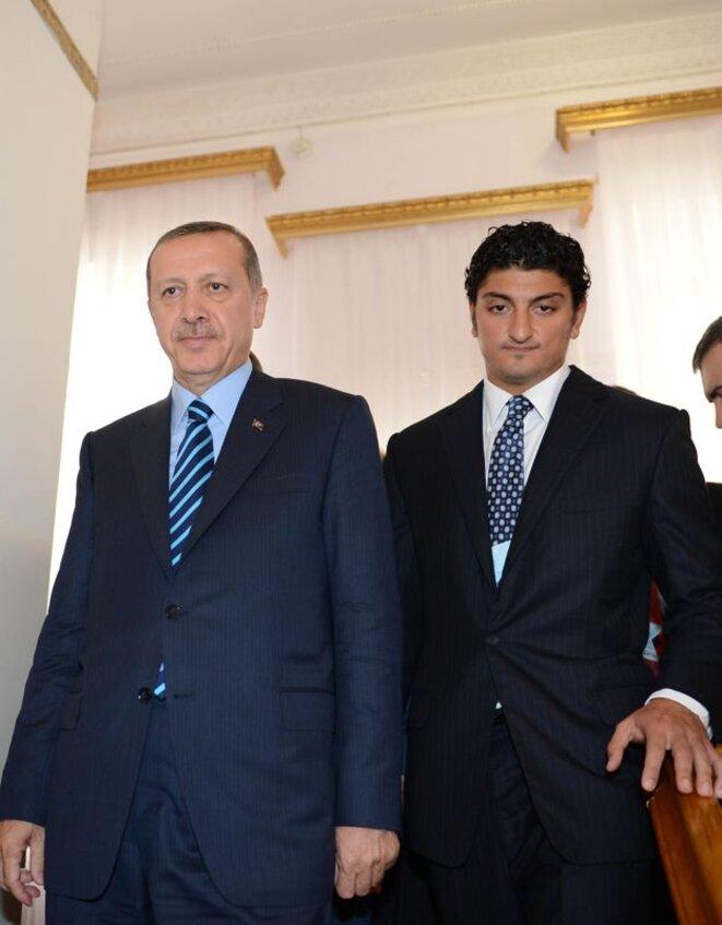 Arif Efendi et le président turc Recep Tayyip Erdogan © EIC