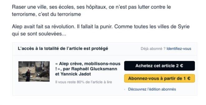 capture d'écran du site Le Monde.fr