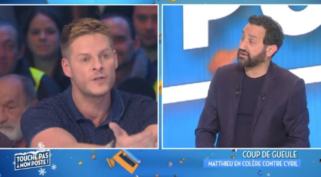 Matthieu Delormeau et Cyril Hanouna sur le plateau de «Touche pas à mon poste»