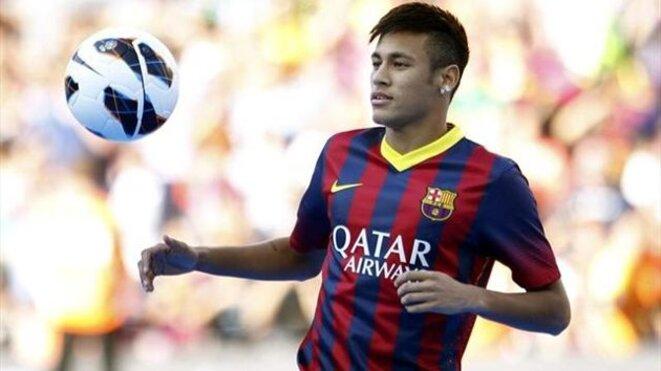 Neymar, la superstar du FC Barcelone, dont Doyen gère les droits à l'image © Reuters
