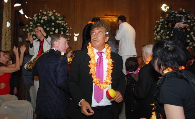 Tevfik Arif lors d'une soirée privée à Bruxelles en mars 2009. © EIC