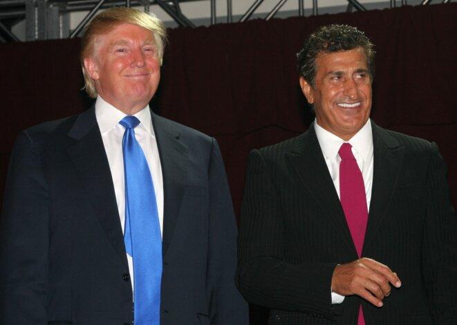 Donald Trump et Tevfik Arif lors du lancement de Trump Soho en 2007 © Getty Images