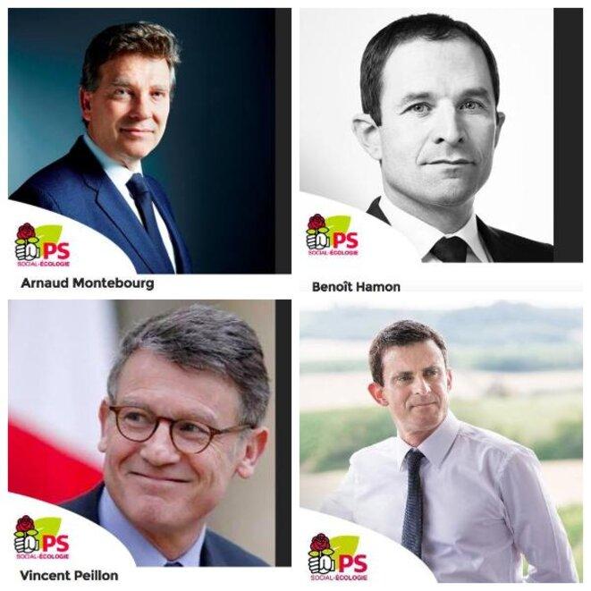 Les quatre socialistes candidats