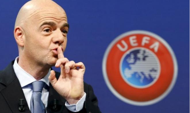 Gianni Infantino du temps où il était à l'UEFA © Reuters