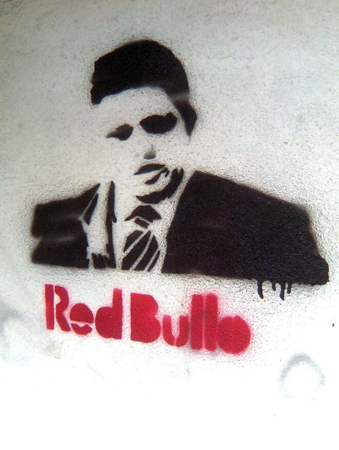 Dessin au pochoir représentant Robert Fico. © Michal Cupka