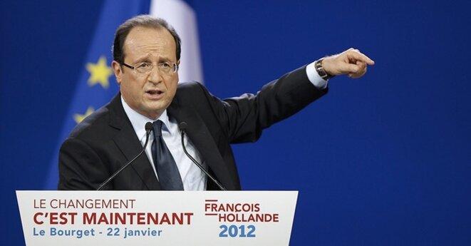 François Hollande, lors de son discours du Bourget. © REUTERS/Benoit Tessier