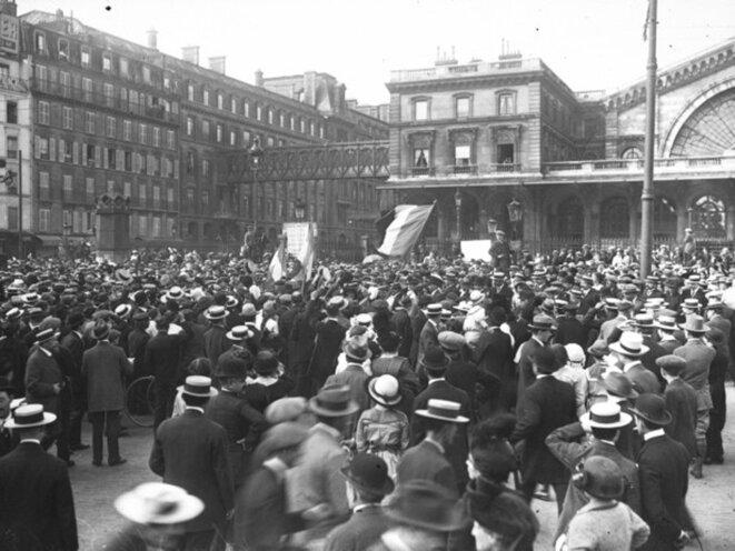 Mobilisation 1914 - Gare de l'Est © ©BNF
