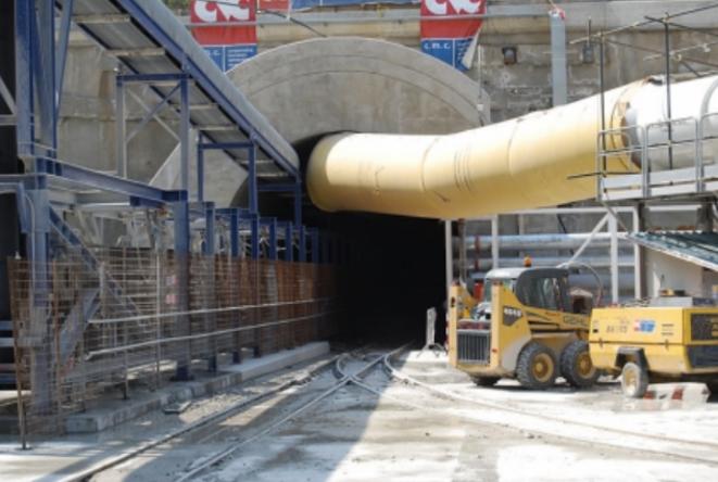 Sur le chantier du Lyon-Turin en juillet 2014 (DR)
