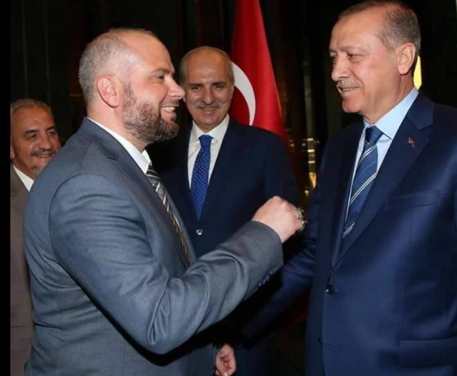 Mohammed Khaer Al-Ghabani avec Erdogan