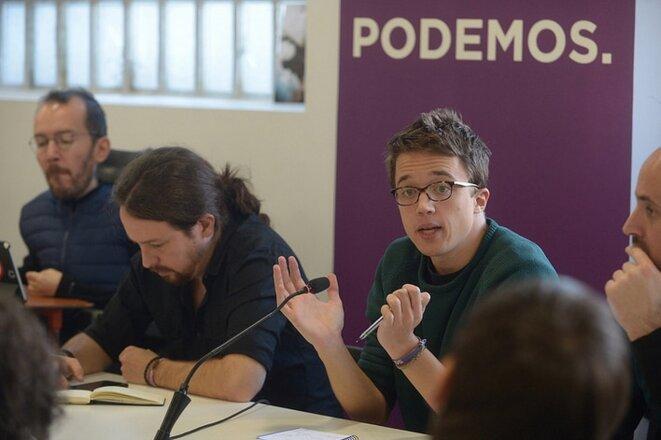 Pablo Iglesias et Íñigo Errejón le 17 décembre 2016 à Madrid © Flickr Podemos