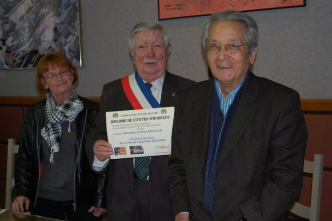 Suzanne Le Manceau (CLGIA), André Delcourt et Jacques Vergès