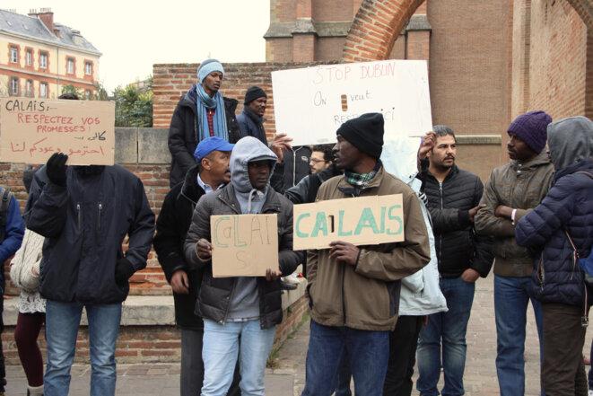 Manifestation de migrants le 22 décembre à Toulouse © ER