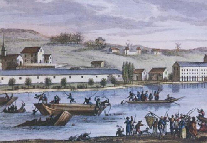 noyades-de-nantes-par-le-conventionnel-carrier-en-1793-gravure-de-duplessis-berteaux