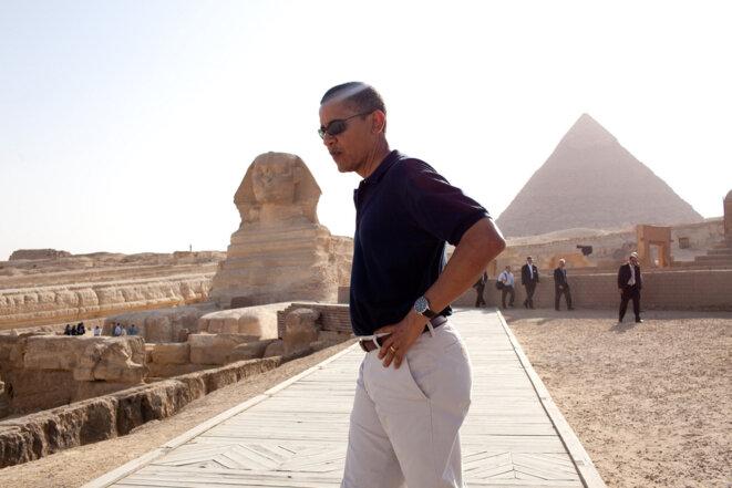 Obama en Égypte en 2009, à la veille d'un discours ambitieux qui ne sera jamais suivi d'effet en ce qui concerne le conflit israélo-palestinien. © Pete Souza/White House
