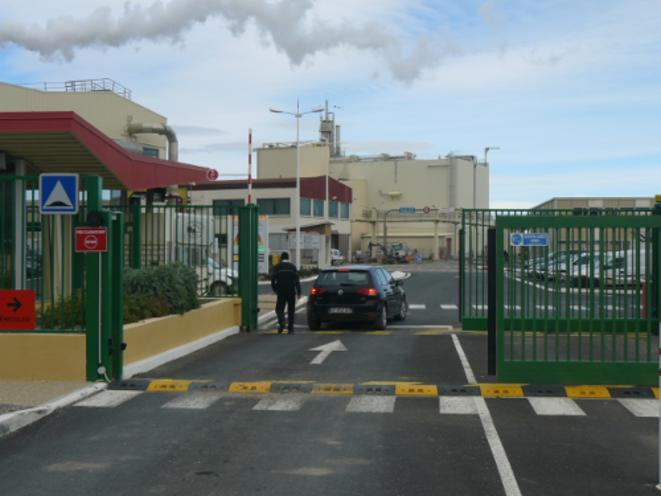 L'entrée d'Areva NC Malvési.