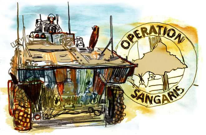 Con una duración prevista de seis meses, la operación Sangaris permaneció casi tres años en la República Centroafricana.