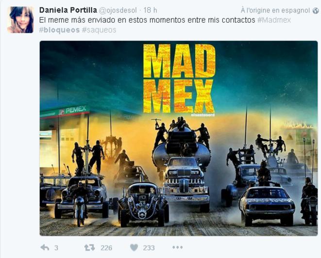 "Mème ""Mad Mex"", inspiré des films Mad Max © @ojosdelsol"