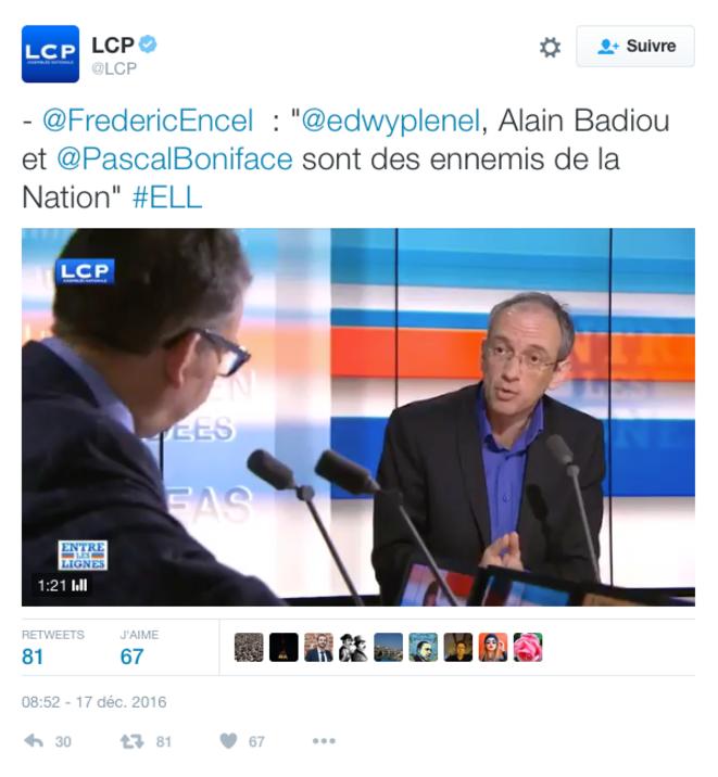 Le tweet de LCP