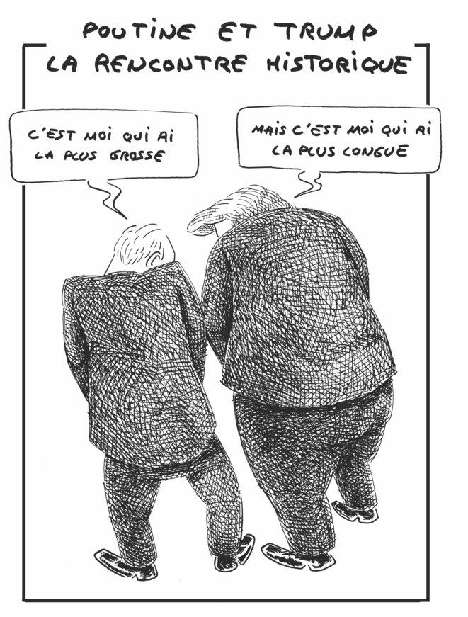 Poutine et Trump:la rencontre historique © vinch