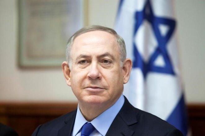 Le premier ministre israélien dans son bureau de Jérusalem, le 25 décembre 2016. © Reuters