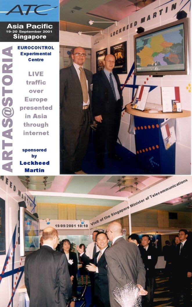 19 septembre 2001, ATC-Asia, démonstration de visualisation du trafic aérien en direct sur internet