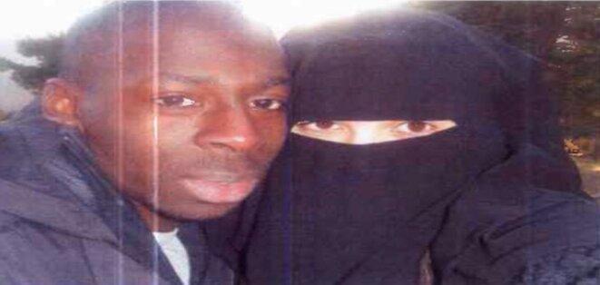 Selfie d'Amedy Coulibaly et de sa femme Hayat Boumeddiene © DR
