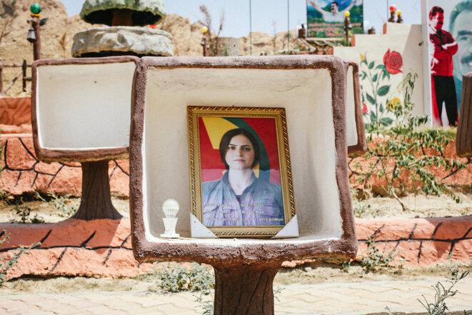 Portrait de Gulchin (de son vrai nom Munire Mina), morte en mars 2016 à l'âge de 23 ans. Irak, juin 2016. © Léa Mandana