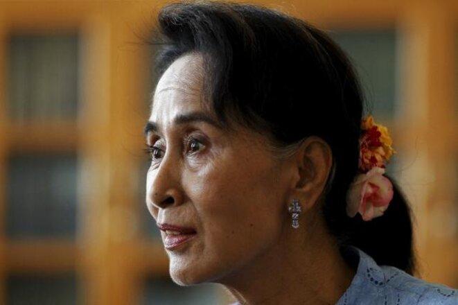 Aung San Suu Kyi, le 3 avril 2015. © Reuters