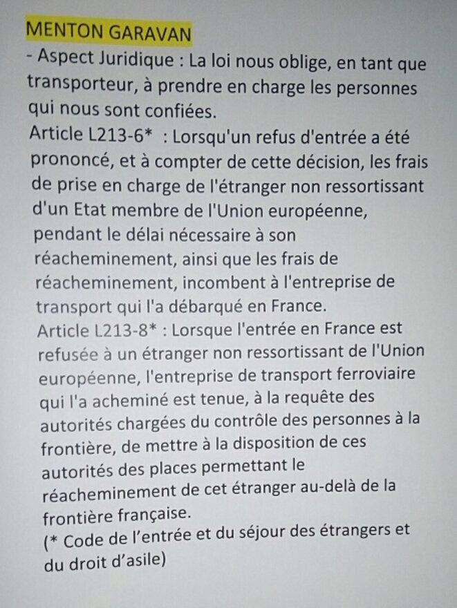 Note de service de la SNCF affichée en salle des contrôleurs à la gare de Nice. © DR