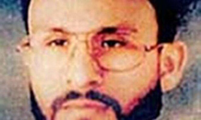 Abu Zubaydah, arrêté au Pakistan en 2002. Photo rendue publique par le US central command