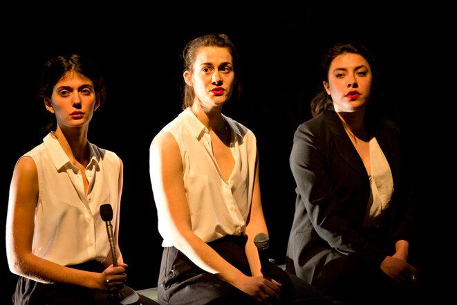 """Actrices du groupe 42 dans """"Shock Cooridor"""" © Jean-Louis Fernandez"""