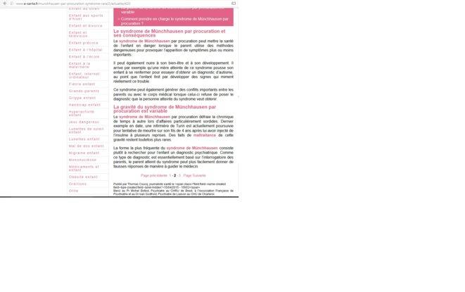 e-santé sur le SMPP - copie d'écran