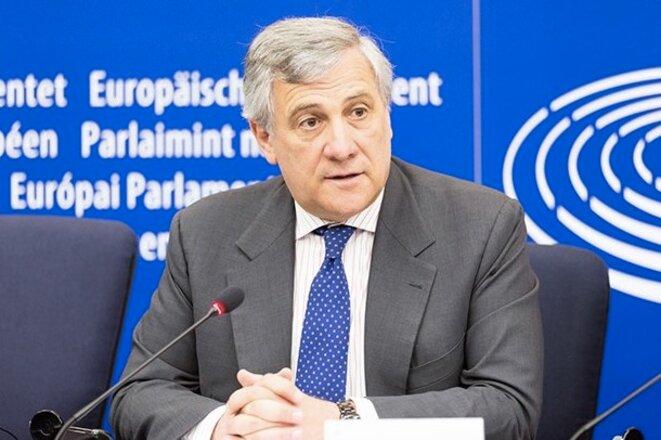 Antonio Tajani au parlement européen à Strasbourg. © EPP