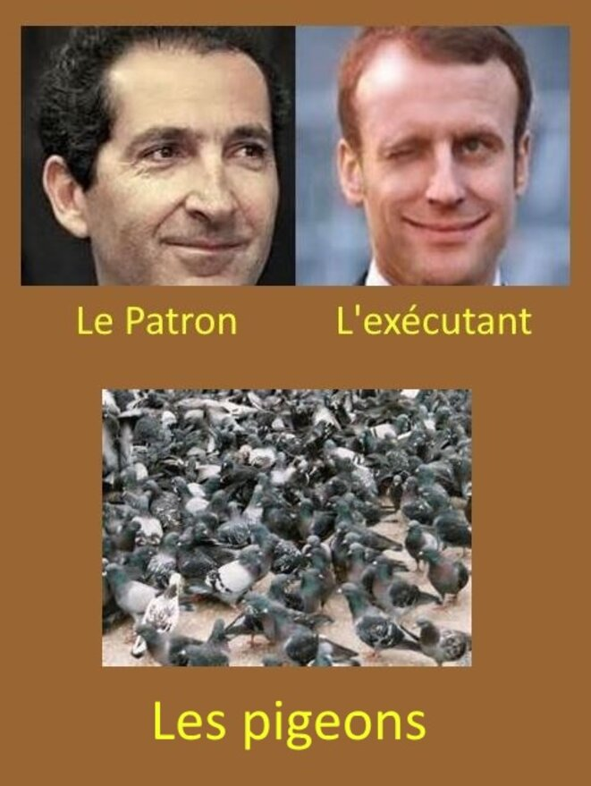 Drahi  et Macron © x