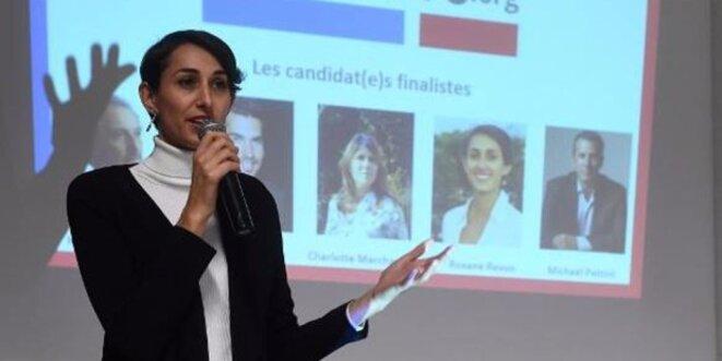 Roxane Revon a défendu un projet européen dans LaPrimaire.org. © privée