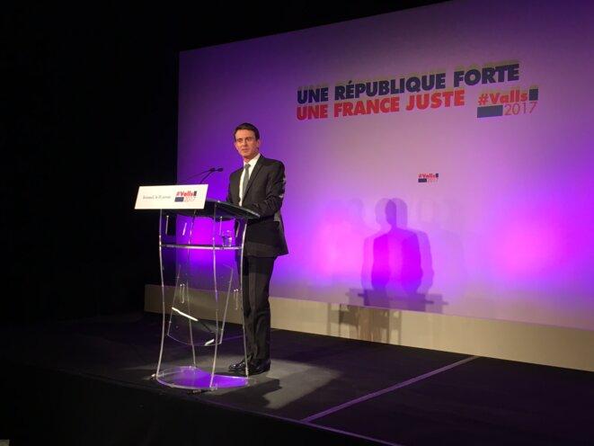 Manuel Valls à Limoges, ce 18 janvier © Mathieu Magnaudeix