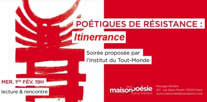 Soirée Poétiques De Résistance Itinerrance Paris Maison De La