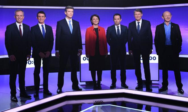 Les candidats à la primaire, jeudi avant le débat © Reuters