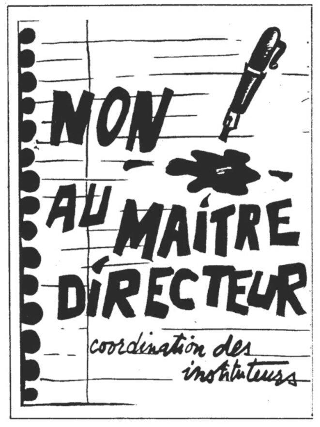 Affiche de la Coordination des instituteurs, janvier 1987 © FACL