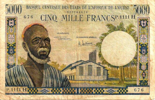 BCEAO Billet 5000 F CFA
