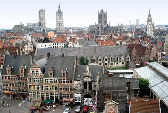 Les Tours de la ville historique de Gand © De Wereld morgen