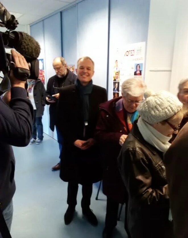 François de Rugy vote à Nantes, le 22 janvier © Pierre-Yves Bulteau