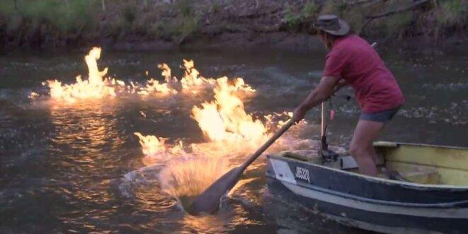 Fuite de gaz dans une rivière en Australie suite à l'exploitation de gaz de couche